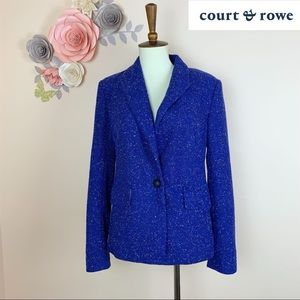 New! Court & Rowe Tweed Boucle One Button Blazer